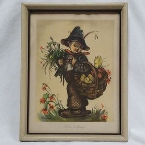 Hummel Voices Of Spring Framed Print Wall Hanging